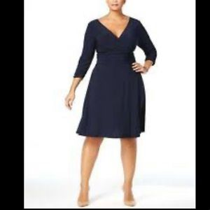 NY collection PLUS size faux wrap dress NEW 3X